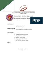 DIFERENCIAS QUIMICA ANALITICA
