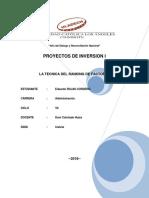 TECNICA DE RANKING DE FACTORES