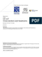 CD 127 Cross-sections and headrooms