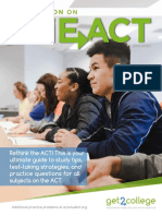 Take ACTion on the ACT 2019-2020