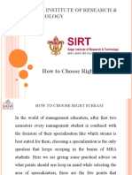 How to Choose Right Stream - SIRT College