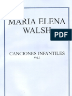 MARIA ELENA WALSH - Partituras de Canciones In Fan Tiles - [Voz y Piano] (Por Gabolio)