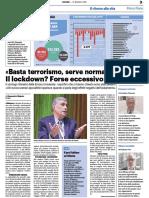 Silvestri, basta terrorismo serve normalità - Il Resto del Carlino del 21 maggio 2020
