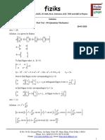 4. Net-Part Test  - 04_Quantum Mechanics_Solution