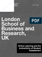 LSBR Blog - Online Learning and the Authenticity of Student Assessment