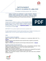 Formular de cerere_Inițiative Pilot LEADER-UE