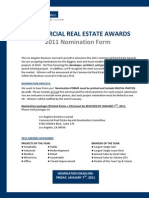 LABJ Commercial Real Estate Awards Nomination Form 2011