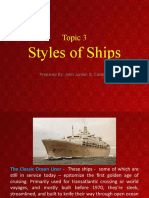 TOPIC 3 - STYLES OF SHIPS-  SIZING SHIPS