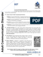 Adult Communication Disorders