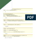 Algumas funções e comandos
