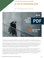 Cómo Conectar Con El Consumidor Post Coronavirus - Celestino Martínez