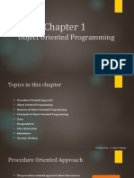 About Object Oriented Programming