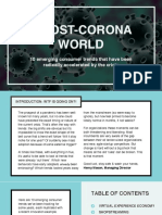 Trends for a post-corona world
