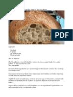 Pâine cu puțină drojdie. Rețeta lui chef Sorin Bontea