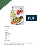 Paste cu roşii, busuioc şi măsline verzi