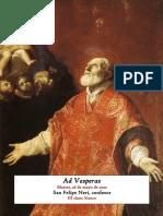 Martes, 26 de mayo de 2020. San Felipe Neri, confesor. Vísperas gregorianas