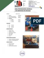 MAQUINA PERFORADORA - GBO INGENIERO S.A.C_