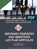 eBook CoachMyTalents 64 Reponses Aux Questions Les Plus Difficiles