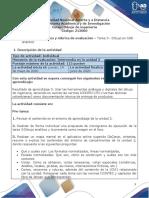 Guía de actividades y rúbrica de evaluación – Tarea  3 Dibujo en CAD analítico