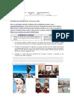 actividades de cuarentena del 25 al 29  de mayo 2020