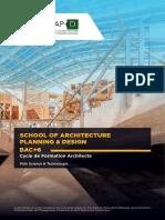 Brochure SAP+D Formation Post-Bac Architecture