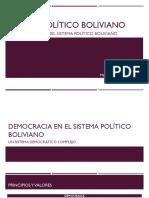 SISTEMA POLÍTICO BOLIVIANO