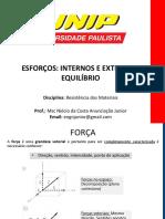 1 - ESFORÇOS - RESISTÊNCIA DE MATERIAIS