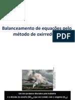 Balanceamento de quações pelo método de oxirredução