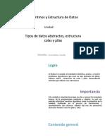 U2_Tipos de datos abstractos, estructura colas y pilas