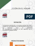 DESINFECCIÓN EN EL HOGAR