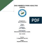 Etica Profesional Tarea 2(Wehnelt Almánzar 16-9228)