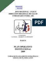 Plan Operativo Institucional 2009