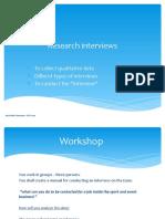 Research interviews