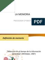 Repositorio Definicion de memoria y olvido