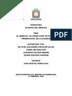 EL DERECHO Y EL ORDEN COMO VÍA PARA LA PRESERVACIÓN  DE LA SOCIEDAD (1)