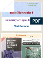 Basic Electronics I Course Summay - Mouli Sankaran