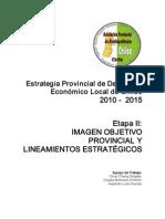 Etapa II Construcción de Imagen Objetivo Provincial y Lineamientos Estrategicos