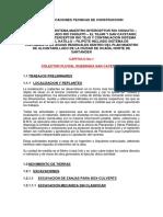 ESPECIFICACIONES ALCANTARILLADO OCAÑA