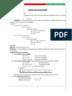 Tema # 6 Teoría de ecuaciones
