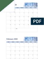 Seasonal photo calendar1