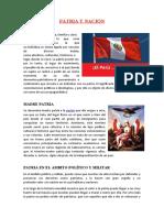 Patria y Nación Informe