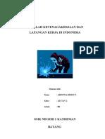 Masalah Ketenagakerjaan Dan Lapangan Kerja Di Indonesia