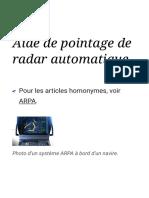 Aide de pointage de radar automatique — Wikipédia.pdf