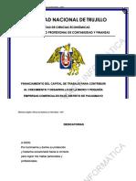 FINANCIAMIENTO DEL CAPITAL DE TRABAJO PARA CONTRIBUIR