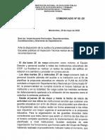 Comunicado Nº 65-Recomendaciones de Insp. Técnica Ante La Disposición de Vuelta a La Presencialidad