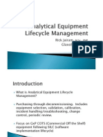 Analytical Equipment Lifecycle Management