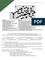 Ficha 5 - Palavras cruzadas - Orações subordinadas - Tempos verbais