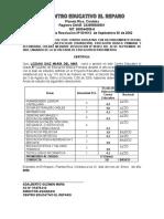 MODELO CERTIFICADO 5° PRIMARIA