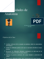 Generalidades de Anatomía 2020