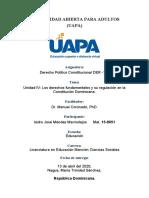 Unidad IV Los derechos fundamentales y su regulación en la Constitución Dominicana.